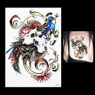 1PC Beauty 3D Women Men Body Arm Art Skull Wolf Phoenix Temporary Tattoo Sticker