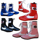 Leather Boxing Boots / Shoes Long Anklet Boxing Training ADULTS & JUNIORS MMA