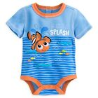 "DISNEY STORE FINDING NEMO CUDDLY BODYSUIT FOR BABY ""MAKE A SPLASH"" CUTE GRAPHICS"