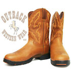 Justin Men's Sunset Rage George Strait Waterproof Barn Boots 9018