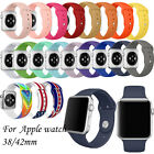 Sports Silicone Bracelet Strap Band For Apple Watch 38mm 42MM iWatch