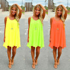 Fashion Women Sexy Summer Sleeveless Evening Party Beach Dress Short Mini Dress