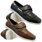 NEW MENS VELCRO CASUAL BOAT DECK MOCASSIN DESIGNER LOAFERS DRIVING SHOES SIZE