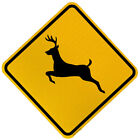 """Deer Crossing X-Ing Sign (W11-3) 24""""x24"""" or 30""""x30"""" Reflective Sign"""
