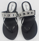 New 2016 Womens Shoes Sandals Wedge Shoes Low Heels Sandals and Flip Flops Black