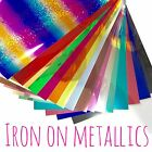 IRON ON Metallic Heat Transfer Vinyl - 16 colours available