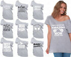 60 DESIGNS Mother's Day Off Shoulder Top T-shirt Mom's Gift GRAY-4