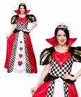 Queen of Hearts Adult Womens Fancy Dress Costume Outfit Storybook Tea Party Card