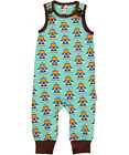 BNWT Baby Boys Maxomorra Astronaut Jersey Dungarees Playsuit NEW Blue Space