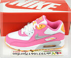 2014 Nike Air Max 90 2007 GS Pink Silver White 345017-120 US 4~6Y Girls Youth