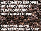 ORGANIC CLEAN BUCKWHEAT HUSK / HULLS 1&2 KILO,FILL PILLOWS/CUSHIONS, GREAT VALUE