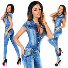 Sexy New Women's Denim Blue Jeans Playsuit Jumpsuit Overall Skinny Slim G 616