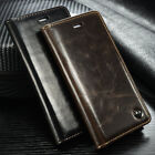 New Brand Luxury Leather Magnetic Flip Stand Wallet Case Cover for iPhone/Galaxy
