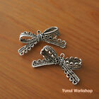 Scallop Lace Trim Bow Metal Charm Antique Silver Deco UV Resin Craft DIY