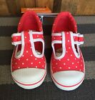 """NEW GYMBOREE Girls """"Ciao Puppy"""" Red White Polka dot T-Strap Sneakers Shoes 8 10"""
