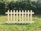 Picket fence panel panels smooth redwood treated hand made in the UK