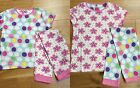 Girls EX JOHN LEWIS SPRING SUMMER TWIN PACK OF 2 PYJAMAS PJS 5-6 / LABELLED 6 yr
