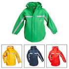 Kid Boys Girls Hi Vis Viz Waterproof Hooded Rain Coat Jacket Safety Wear School