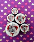 Pair of Zombie Love Ear Plugs Tunnels Gauges- 6mm - 25mm