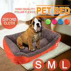 Puppy House Winter Soft Cat Teddy Pet Dog Bed Warm Comfy Fabric Rectangle S/M/L