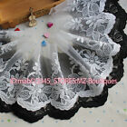 FP148 17cm,1yards Delicate embroidered flower tulle lace trim Skirt Sewing DIY