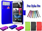 PU Leather Side Open Book Flip Wallet Case Cover Holder For HTC DESIRE 510 UK