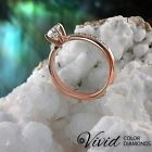 14k Rose Gold Engagement Ring 1.17 TCW Real Diamond VS/D-F Size 8 Women Enhanced
