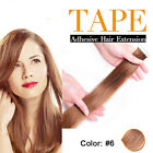 20pcs  tape in bande adhesive clip in 100% remy human hair extension 2.5g/pc 50g