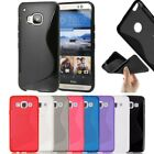New S-Line Soft Silicon Gel Case Cover For HTC One M10 + Free Screen Guard