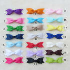 Lot 21color Boutique Hair Accessory Knot Grosgrain Ribbon Hair Bow Clip For Girl