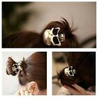 Ladies / Girls Gold / Silver Skull Hair Bobble Loop Ring Band Pony Tail Tie