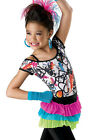 NEW 'Wild Child' Tap Jazz Dance 80's Pageant Competition Costume Wear Pink Blue