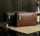 Free Shipping Fine New Brown Men Genuine Leather Briefcase Clutch Bag Wallets