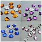 7*10mm Oval Rhinestones Sew On Flatback Crystal Glass Strass Chatons 200ps
