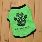 Cat Dog Tee – Make Your Mark Paw Print – Pet Clothes Tshirt Wear