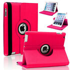 Apple Samsung Galaxy Tab Tablet Leather 360 Rotate Case Cover For iPad 4 3 2