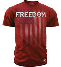 Freedom American Flag Patriotism Men's T-Shirt Red S M L XL XXL