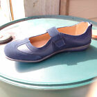 Boulevard navy leather/real suede touch fastening summer sport casual