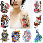 Внешний вид - 50 Design 1pc Fashion Women Men Flower Arm DIY Body Art Temporary Tattoo Sticker