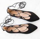 """NEW City Classified """"Heat"""" Women Lace Up Ankle Wrap Pointy Toe Ballet Flats"""