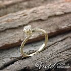 Pave Diamond Engagement Ring 1.06 TCW SI G-H 14k Yellow Gold Size 6 Enhanced