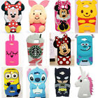 3D Cartoon Soft Silicone Phone Back Case Cover Skin for Alcatel One Touch Phones