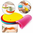 Non Slip Heat Resistant Silicon Pad Round Insulation Pot Holder Placemat Cup Mat
