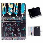 Art Wallet Q1Leather Stand Card Case Cover Skin For Apple Ipad / Samsung Tablet