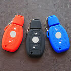 silicone car key fob Stickers case cover skin wallet for mercedes benz 2 buttons