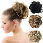 Clip In Wavy Curly Drawstring Synthetic Hair Bun Updo Cover Chignon Extensions