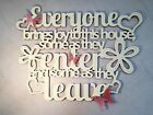 Everyone Brings Joy Enter & Leave, Wooden Word Art Pictures, Quotes, Sayings