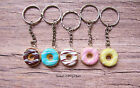 Multi Coloured Doughnut with Drizzled Icing Keyring - Cute Kawaii Accessory Gift