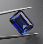Lab Created Synthetic Blue Sapphire Corundum AAA Octagon Loose Stone (4x2-20x15)