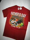 """Gildan-Mens Red T Shirt w/ Father's Day Supplies-Daddy Fix-It""""-Brand New"""
